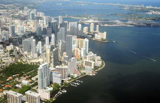 Miami from the air.