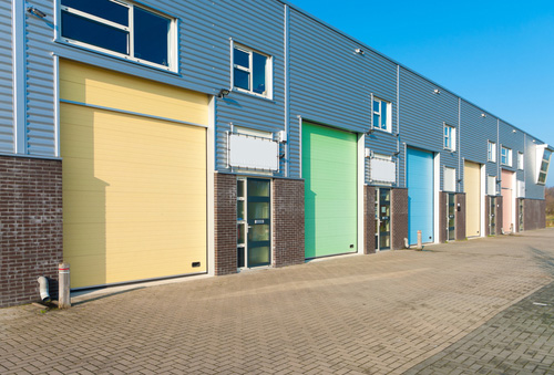 Small business colored garage doors
