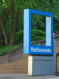 Nationwide's blue frame logo decorates the company's headquarters in Columbus, Ohio.
