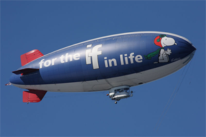 "Metlife ""Snoopy Two"" A-60R airship.  Photo by Matthew Field."