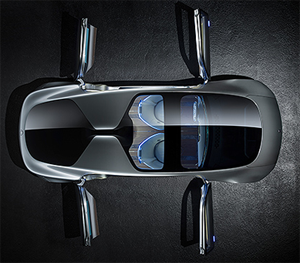 Mercedes-Benz F015 driverless concept car.