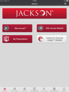 Screencap of Jackson's new mobile app.
