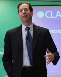 Leadership theorist Ronald Heifetz speaking at a seminar in Greece in 2010.