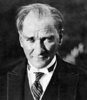 Portrait of Mustafa Kemal Atatürk, father of modern Turkey and patron of Anadolu Insurance.