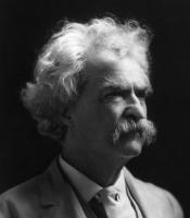 Mark Twain by A.F. Bradley in 1907.