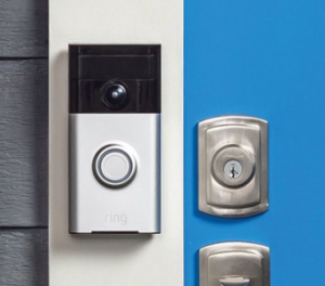The Ring Video Doorbell can run on an internal battery or connected to an existing doorbell's wiring.