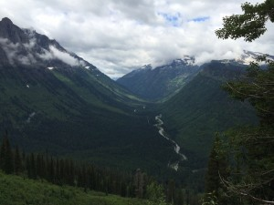 Valley view in West Glacier National Park.