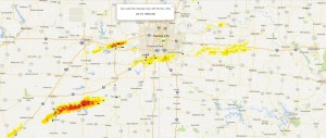 Screenshot of Understory's RTi sensors tracking hail activity in the greater Kansas City area. Click to enlarge.