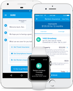 Nationwide's Sure renters app. (Click to enlarge.)